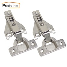 Probrico 20 Pair Face Frame Kitchen Cabinet Hinges Iron CHHS09GA Furniture Full Overlay Concealed Cupboard Door Hinge(China)