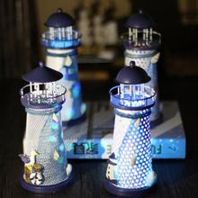2016 Vintage Nautical Regional Casting Lighthouse Beacon Tower Beach Home Bedroom DIY Decorative Crafts Ornament For Kids Gift