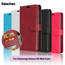 Buy S5 Mini Luxury Phone Cases Samsung Galaxy S5 Mini Case Flip Leather Wallet Card Slot Stand Holder Cover Fundas for $3.33 in AliExpress store