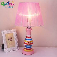 Modern Style Pink Desk light Hardware Table Lamp Girl Bedroom Creative Night Lamp Bedside Warm Light LED E27(China)