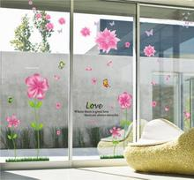 11.11 hot sale new year Love Petal Flowers Butterflies Removable Wall Decals Large Wall Stickers Home For bedroom accessories