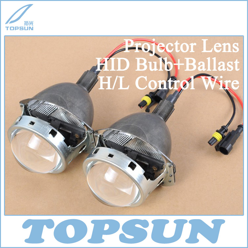 Car Light Kit 3 Bixenon Q5 Projector Lens, 35W HID bulb, Ballast, and H/L Beam Control Wire, for H1 H4 H7 H11 9005 9006 Socket<br><br>Aliexpress
