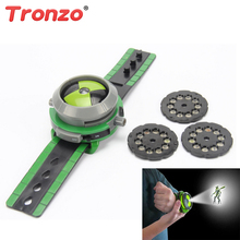 Tronzo 21cm Ben 10 Omnitrix Watch Style Kids Projector Watch Toys Japan Genuine Ben 10 Birthday Gift For Boy Child Dropshipping(China)