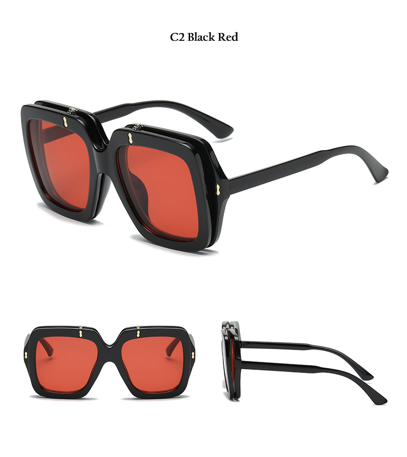2018 New Square Unisex Sunglasses (9)