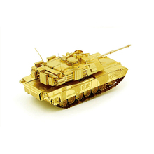 M1 ABRAMS TANK model DIY laser cutting Jigsaw puzzle model 3D Nano metal Puzzle Toys for adult Gift with free shipping(China)