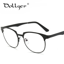 Anti blue light Computer Eyewear Frames Mrtal Wire Drawing Square Vintage Fashion Classic Glasses Frame Optical Eyeglasses s1263