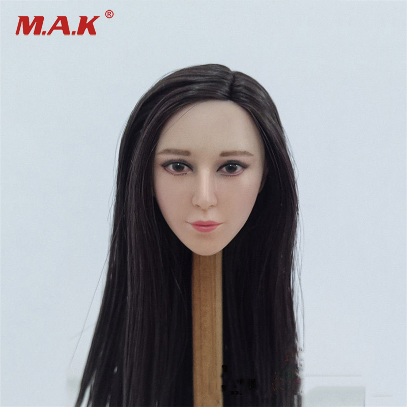 1:6 Scale Fan Bingbing Head Sculpt Model with a free Hat for 12 inches Action Figure<br>