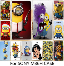 Unique! Cartoon Despicable Me Minions Piece PC cell Phone Cass For Sony Xperia ZR C5502 C5503 M36h Cases back cover skin shell(China)