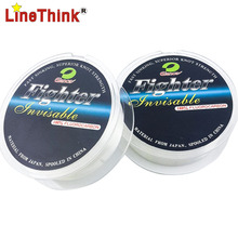 50M 100% Fluorocarbon Fishing Line Leader line for Braid Fishing Line Japan Quality Free Shipping(China)
