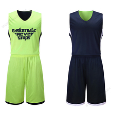 Adsmony Adult's Double Sided Basketball Jersey Reversible L-5XL Set Top Quality Suit Shirt Custom Kit Wear Summer
