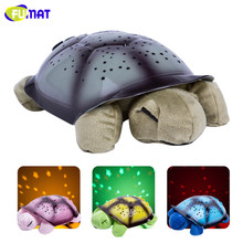 FUMAT Tortoise Night Light USB Musical Turtle Night Light Stars Constellation Projector Lamp Children Bedroom Night Light