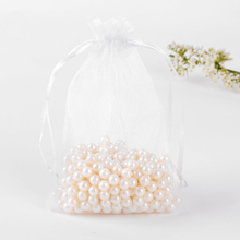 Candy Bags Organza Gift Bag Embalagem 10x15cm 100pcs White Organza Bag Packaging For Soap bolsas de regalo Can Custom Logo(China)