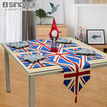 Table Runner Bright Nature Cotton Polyester Fabric The West Style Decor Living Room Table Decoration UK Flag Party Table Cloth(China)