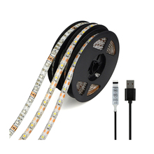DC 5V 50CM 1M 2M USB LED Strip Light 3528 SMD IP20 RGB Warm Cool White Flexible TV Background Lighting Strip Wall Lamp