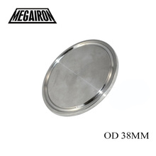 "MEGAIRON 38MM 1.5'' Sanitary End Cap fits 1.5"" Tri Clamp Ferrule Flange 50.5MM Stainless Steel SUS SS 316(China)"