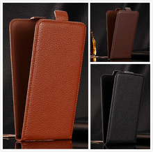 Luxury flip vertical cover bag flip up and down PU Leather Case for Nomi i504