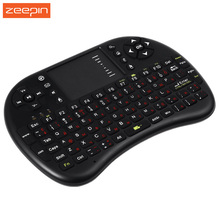 Russian English Version 2.4GHz Wireless Qwerty Keyboard Touchpad Air Mouse Fly Mouse Remote Control for Android TV BOX Mini PC