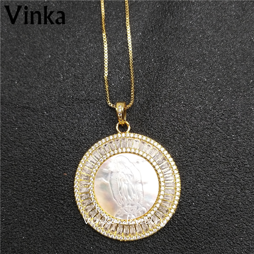 5pieces 2018 New Product! 3A High Quality Circular shape Necklace with Mother of Pearl pendant necklace for Women Festival Gift
