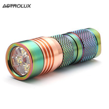 Astrolux S41S Colored Stainless Steel 1600LM 4/7modes Mini 4x Nichia 219B/XP-G2/G3 A6 LED Flashlight 18350 16340 torch+O-ring