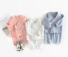 4sets/lot Baby Boys Girls Clothes Kids Dot Triangle Style Clothes Chindren Clothing Sets Boys Girls 3-24M sylvia 555534434245(China)