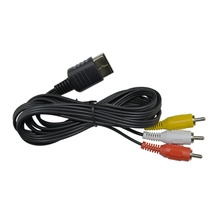 10pcs a lot 1.8M Composite AV Audio Video TV Adapter Cable for SEGA Dreamcast RCA Cord for DC