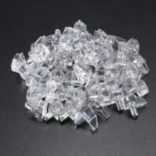 50pcs 5mm Clear Shelf Supports Pegs Studs With Metal Pin Kitchen Cabinet Shelves Accessories(China)