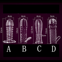 Buy 4pcsAdult Toys MenMale Condoms Crystal Delay Lengthened Bold Spike Sets Condoms Adult Products Penis Enhancer Penis Rings