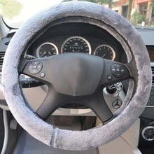 Universal Car Winter Steering Wheel Cover sSoft Short Plush Heated Steering Wheel Cover Winter Plush Steering Wheel Cover