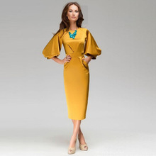 New Women Summer Casual Office Lady Business Dresses Formal Party Bodycon Slim Dress Fashion High Quality Clothing Y0727-44D(China)