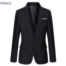 Hot Sale New Arrival Fashion Blazer Mens Casual Jacket Solid Color Cotton Men Blazer Jacket Men Classic Mens Suit Jackets Coats