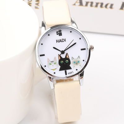 Japanese small fresh girl child wild watch female Korean version of the simple Harajuku cute middle school students soft gi 4