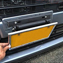 Dewtreetali New Arrival Universal Car Carbon Fiber Number License Plate Frame Holder Bracket Adjustable Car Accessories(China)