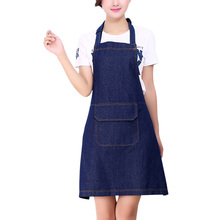 Denim Fabric Kitchen Cooking Apron Restaurant Uniforms Aprons Sleeveless Waiter Aprons Household Cleaning Tools Accessories