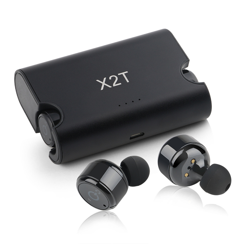 X2T True Wireless Earbuds TWS Mini In Ear Earphone Bluetooth 4.2 1500mAH Charger Box for iphone and andriods<br>