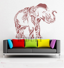 Household Items Creative Home Decorations Wall Stickers Wall Stickers Mehndi Indian Elephant Yoga Folded Vinyl Wall Stickers