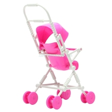 New Assembly Doll Stroller Trolley Nursery Furniture Toys Gift Pink  #T026#