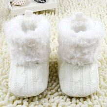 Infant Kids Baby Crochet/Knit Boots Booties Toddler Girl Winter Snow Crib Shoes