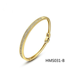 Sell Well Jewelry Hand Decorate Quality Goods Austria Crystal Starlight Coast Rose Bath Gold Bracelet(China)