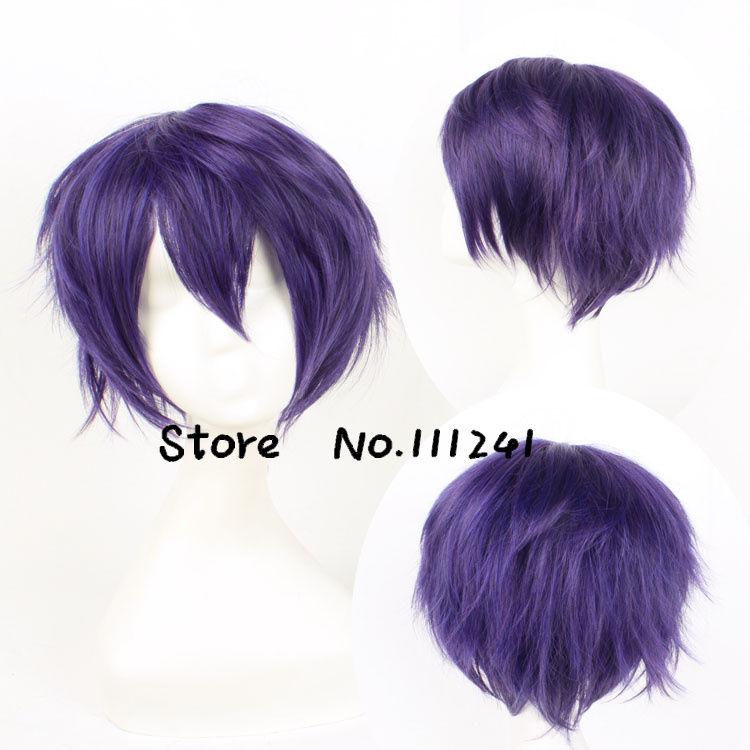 Anime Noragami Yato Yaboku Cosplay Wig Short Strainght Purple Heat Resistant Synthetic Wigs<br><br>Aliexpress