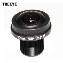 "5Megapixel 1.7mm Fisheye Lens For HD CCTV IP Camera M12 Mount 1/2.5"" F2.0 Compatible Wide Angle Panoramic CCTV Lens"