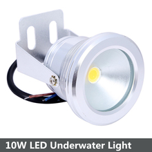 Wholesale 5pcs/lot 10W 12V Underwater Led Light Waterproof IP68 Fountain Pond Pool Lamp Body Silver Warm White/Cool White(China)
