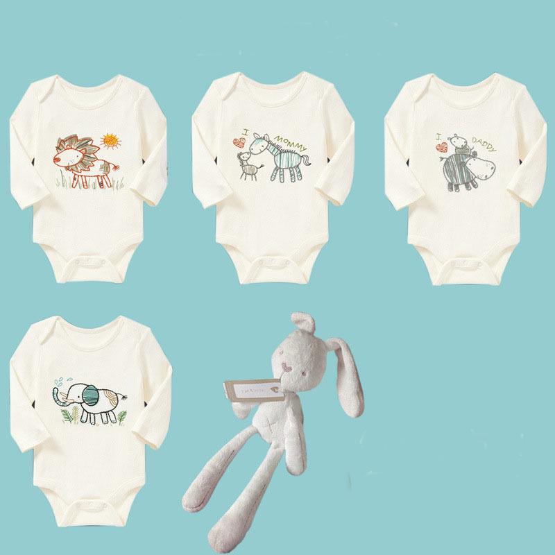 cotton One-Pieces for baby boys &amp; girls spring/fall Long sleeve CARTON clothing newborn autumn lovey wear  CS310-34 ELEVEN STORY<br>