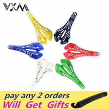 Super Light Plastic Factory Agents VERTU Bicycle Saddle Mountain MTB Bike Saddle Seat 6 Colors PVC Cushion Sillin Bicicleta