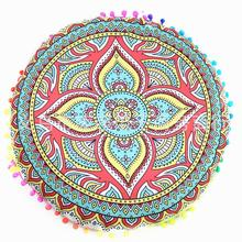 Factory Direct Supply Colorful Mandala Round Pillow Cover Indian Mandala Cover Round Cushion For Home Supplies
