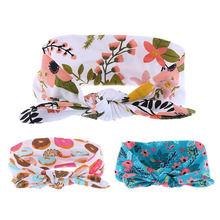 2PC Fashion Sweet Girls Boys Floral Comfortable Organic Knit Cotton Headband & Swaddle Blanket Set Burp Cloth Set