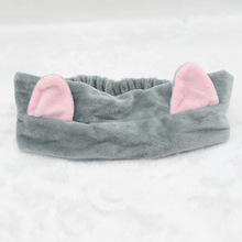 New Fashion Cat Ears Headbands For Women High Quality Cashmere Cotton Solid Bandanas Hair Band Wash Shower Cap HeadBands