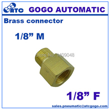 10pcs a lot GOGO Brass plumbing water conduit fitting 1/8 male to female G thread union butt connector copper joint(China)