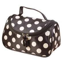 Coneed Storage bags Makeup Polka Dot Flip Double Zipper Cosmetic Bag organizer boite de rangement quality first