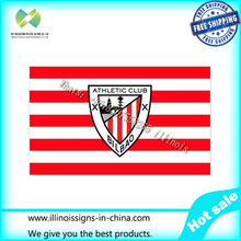 Free shipping 90x150cm La Liga Athletic Bilbao sign flag banner office / Cruise / decoration / 100D Digital Printing