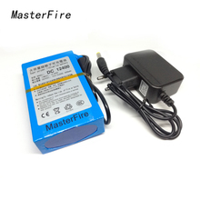 MasterFire High Quality Portable 12V 4000mAH Rechargeable Lithium Battery Batteries Pack For CCTV Camera MID GPS+AC Charger